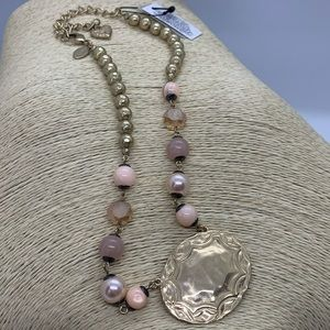 Chico's Blush and Gold-tone Necklace